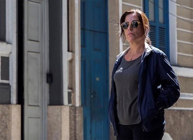 Gloria Pires durante as filmagens de A Suspeita (Foto: Reprodução/Instagram)