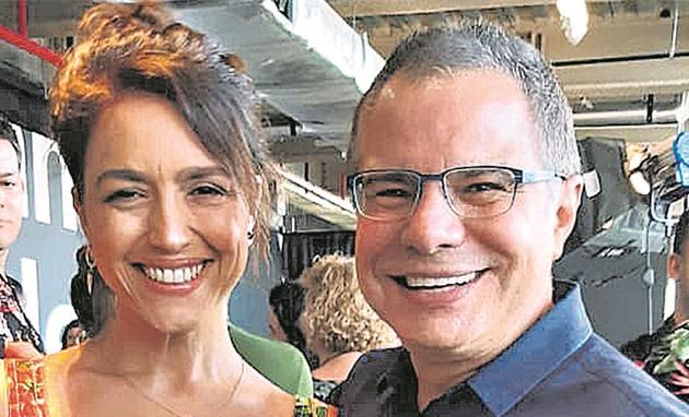 Manuela Dias e Ricardo Linhares (Foto: Eliane Martins)