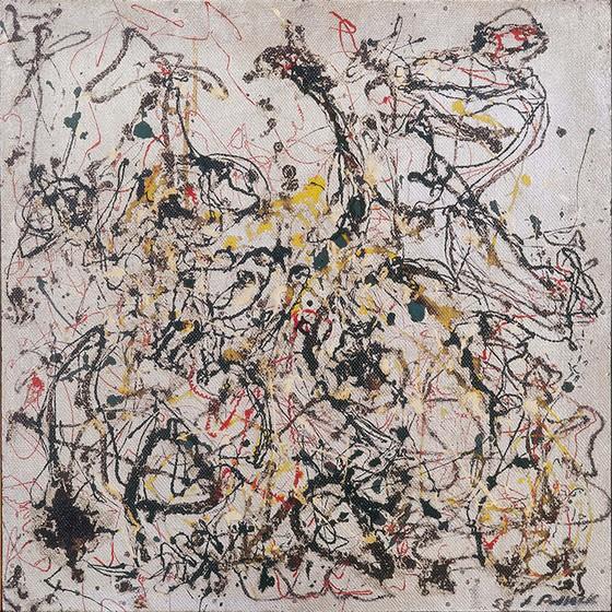 Com valor estimado em US$ 25 milhões, o quadro Nº 16 de Jackson Pollock ajudaria o MAM do Rio a sair do buraco financeiro (Foto: Divulgação MAM/RJ)