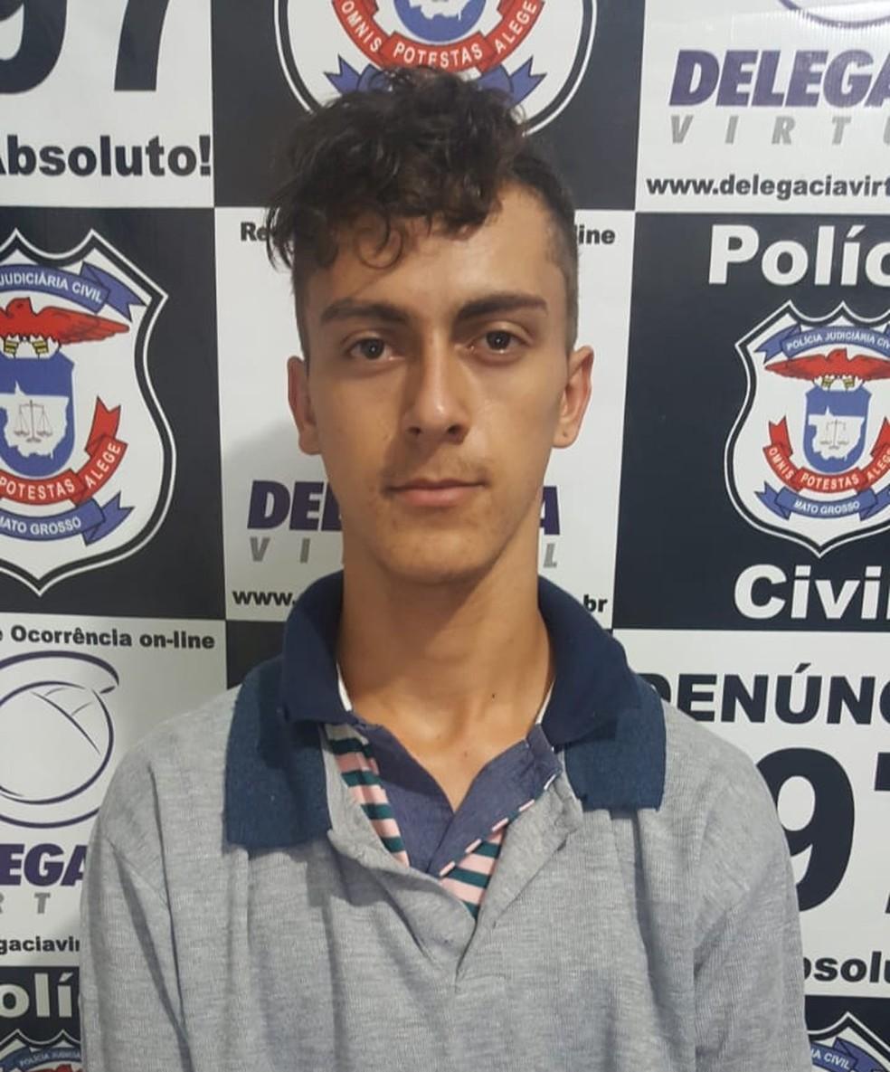 João Vitor Pereira dos Santos confessou que atirou na jovem — Foto: Polícia Civil de Jaciara