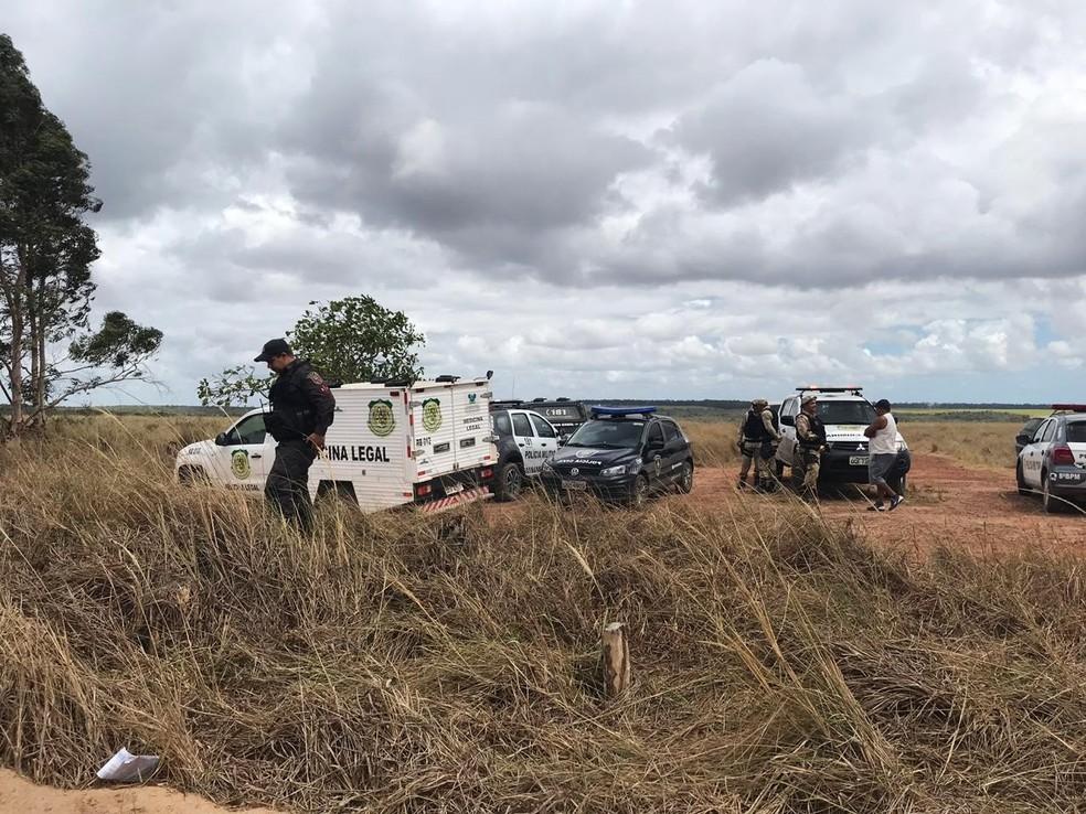 Corpo da empresária foi encontrado em uma estrada de terra entre Espírito Santo e Pedro Velho — Foto: Kleber Teixeira/Inter TV Cabugi
