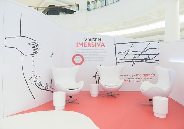 Exposição Niemeyer Sensorial, no Shopping Pátio Higienópolis (Foto: Divulgação)