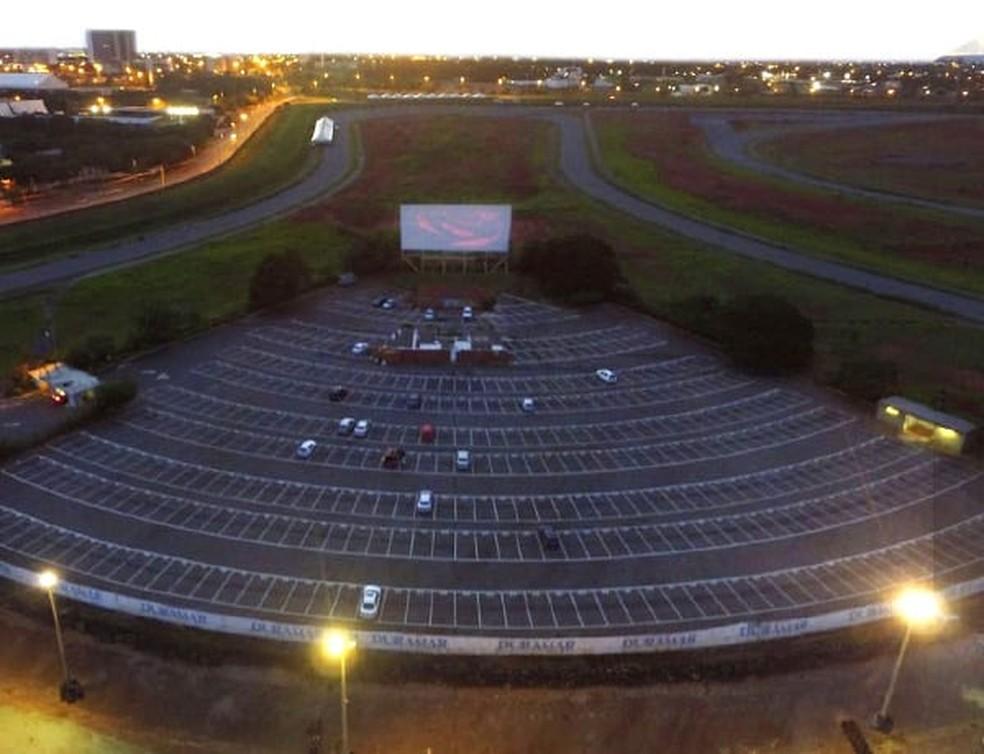Imagem aérea do Cine Drive-in de Brasília — Foto: Divulgação/Site oficial
