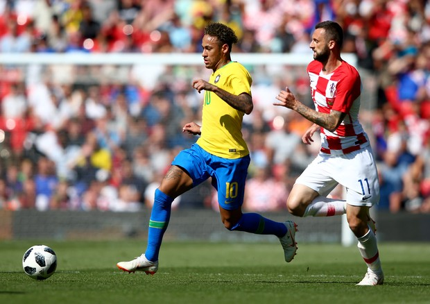 Jogo amistoso do Brasil contra a Croácia em 03.06 (Foto: Getty Images)