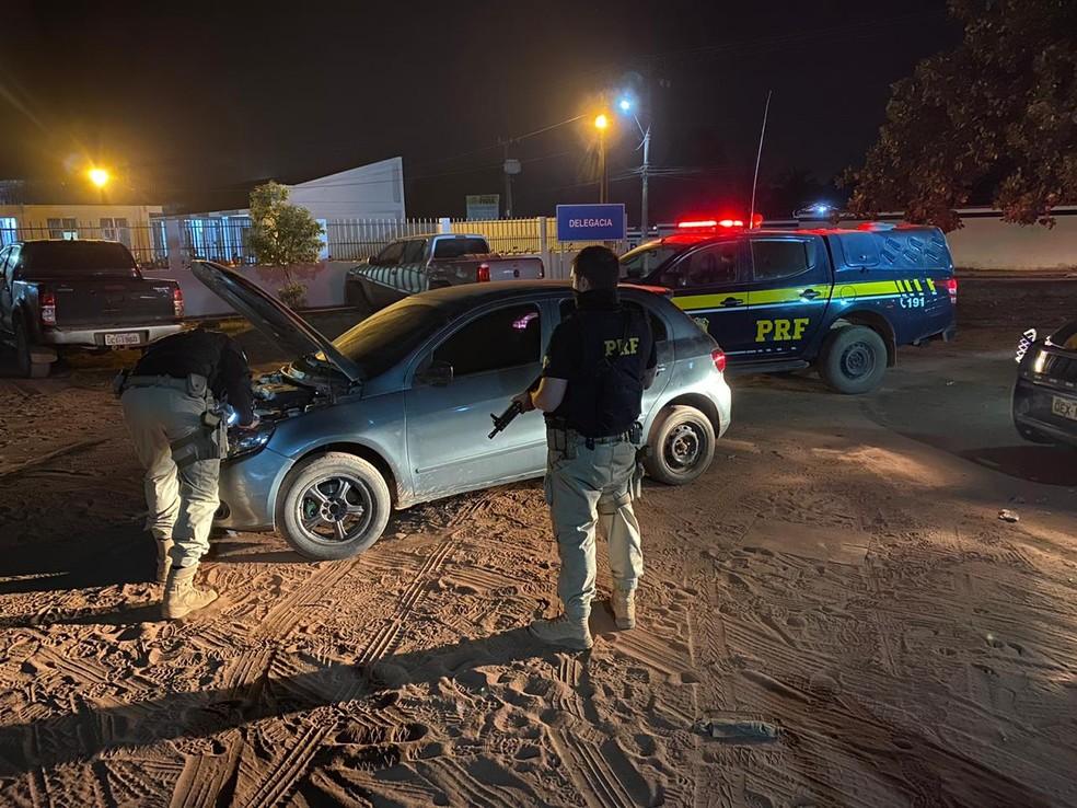 Veículo com registro de roubo do município de Ananindeua (PA) foi apreendido — Foto: PRF/Divulgação