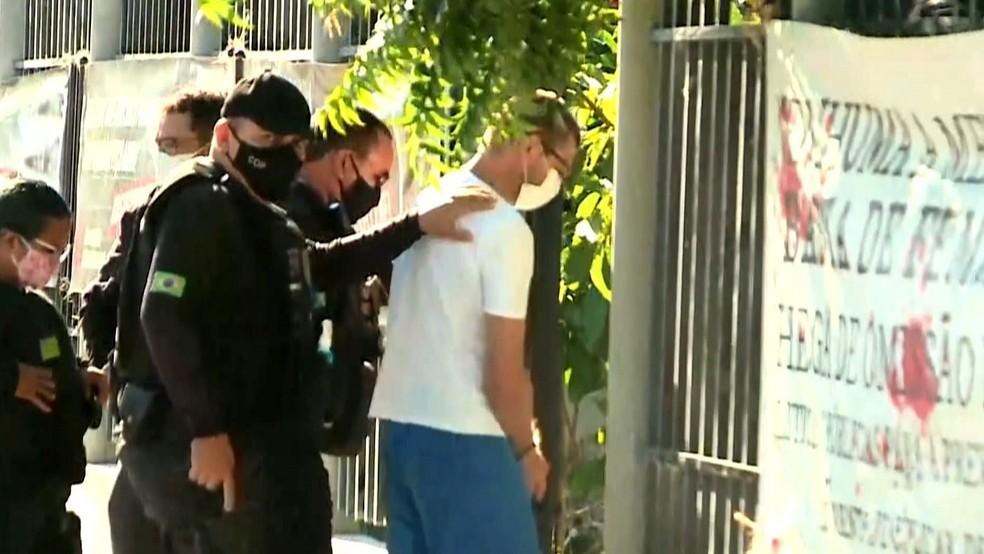 Raimundo Neto Pereira é julgado no Tribunal Popular do Júri, em Luís Correia. — Foto: Reprodução/TV Clube