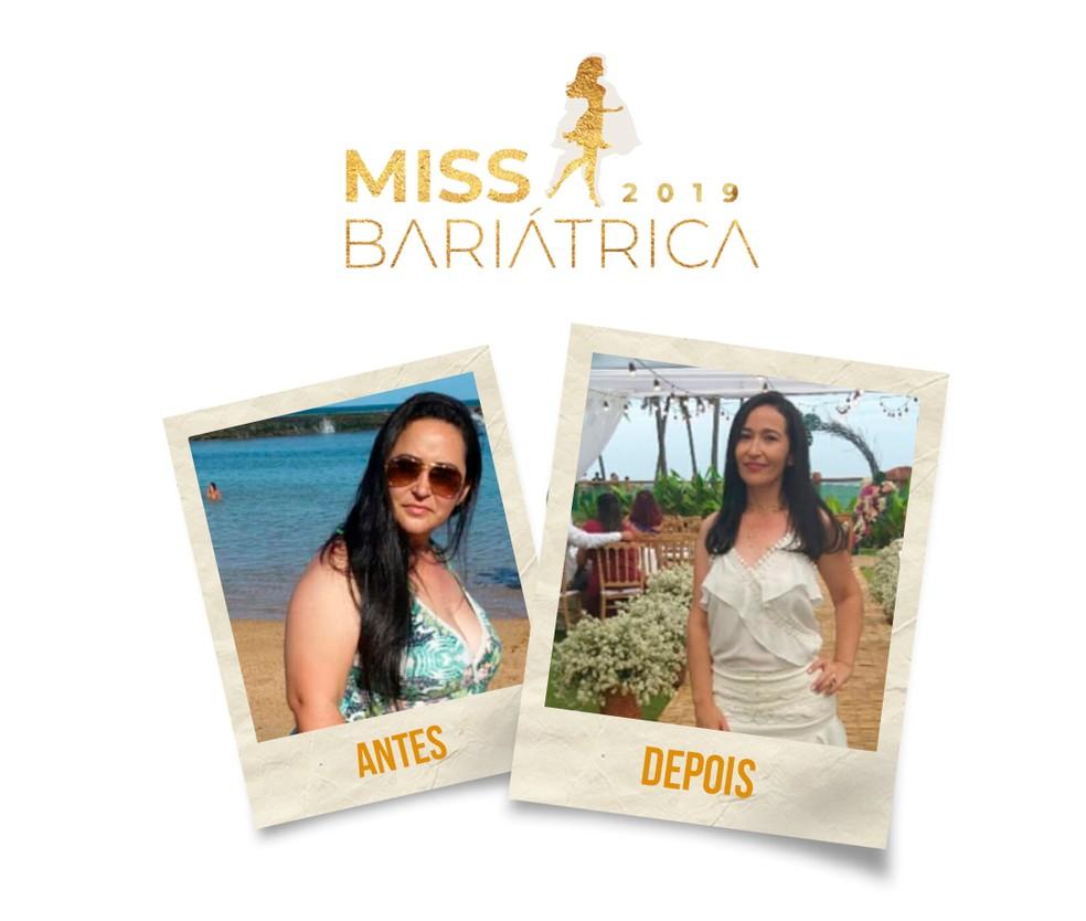 Roberta Leão, 37 anos, finalista do Miss Bariátrica — Foto: Divulgação