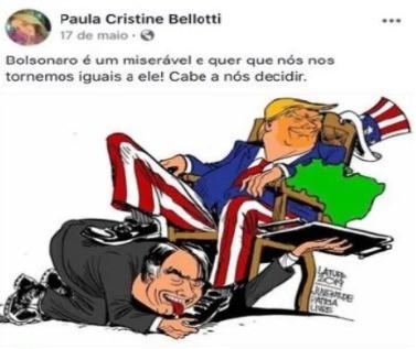 """Procuradora chamou presidente de """"miserável"""" em publicação"""