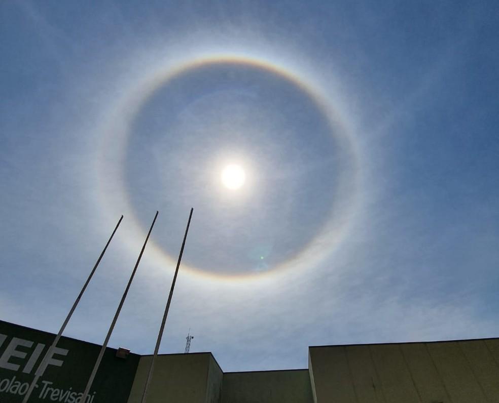 Fenomeno Halo Solar Chama Atencao De Moradores Da Regiao De Itapetininga Itapetininga E Regiao G1