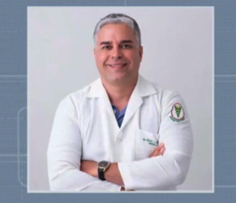 Fisioterapeuta que confessou ter mandado matar mulher em Lapão, na Bahia — Foto: Reprodução/TV São Francisco