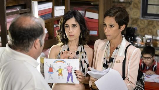 Personagens de Andrea Beltrão e Fernanda Torres compartilham de momento inusitado em 'Tapas'