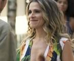 Na segunda (19), Silvana (Ingrid Guimarães) causará constrangimento ao invadir a sala da diretoria da editora, onde estão Alberto (Antonio Fagundes) e Paloma (Grazi Massafera) | TV Globo