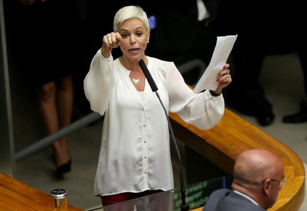 A ex-deputada federal Cristiane Brasil em imagem de 2016 na Câmara dos Deputados — Foto: Wilson Dias/Agência Brasil