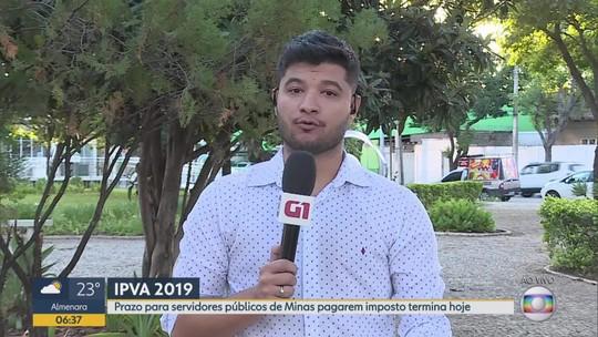 Termina nesta terça-feira (30) o prazo para servidores públicos de Minas pagarem IPVA