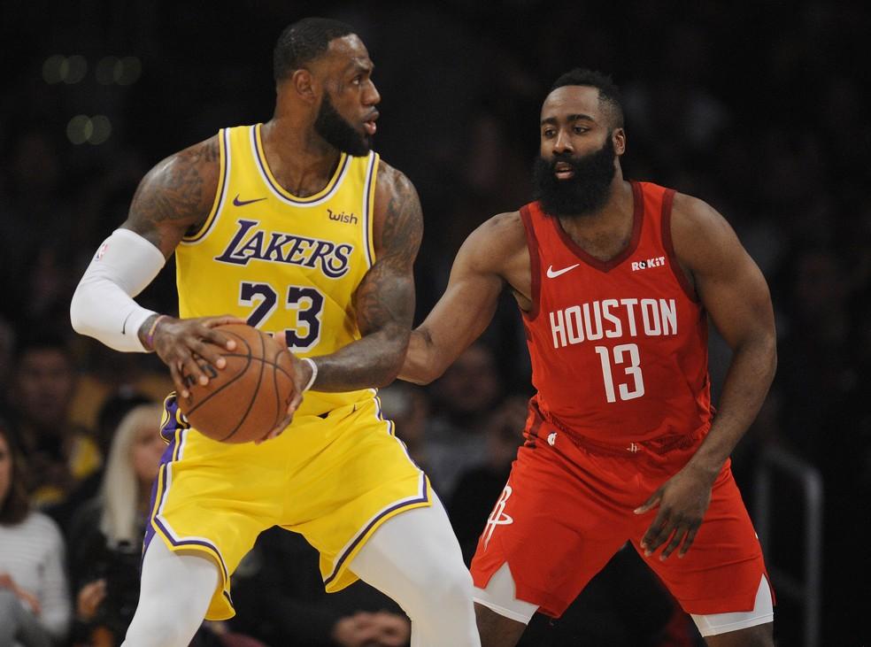 LeBron e Harden iniciam série entre Lakers x Rockets. Bucks tentam  recuperação contra Miami | nba | ge