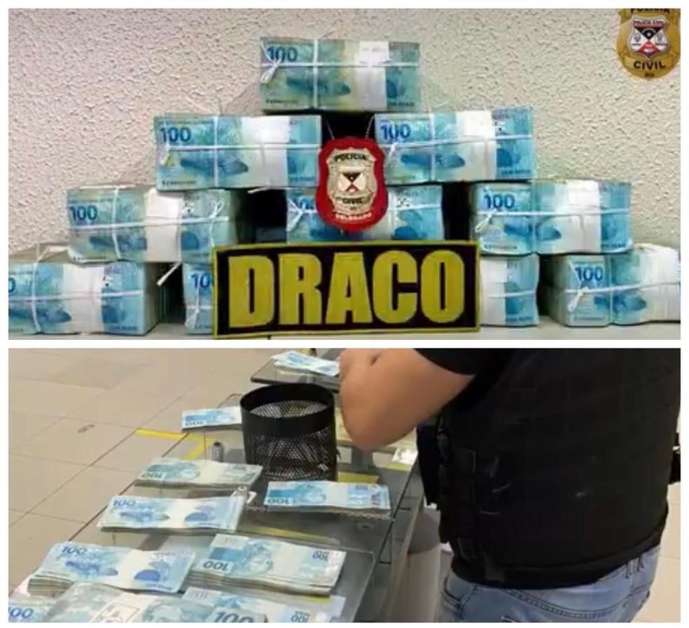 Dinheiro do resgate da vítima foi recuperado e devolvido à família em RO — Foto: Polícia Civil/Reprodução