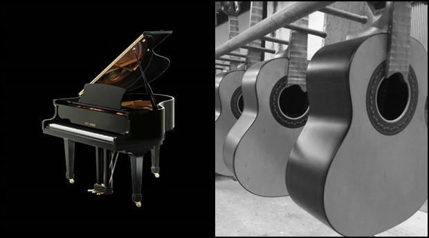 Piano da  Fritz Dobbert e violão da Giannini: empresas são tradicionais no mercado brasileiro (Foto: Divulgação)