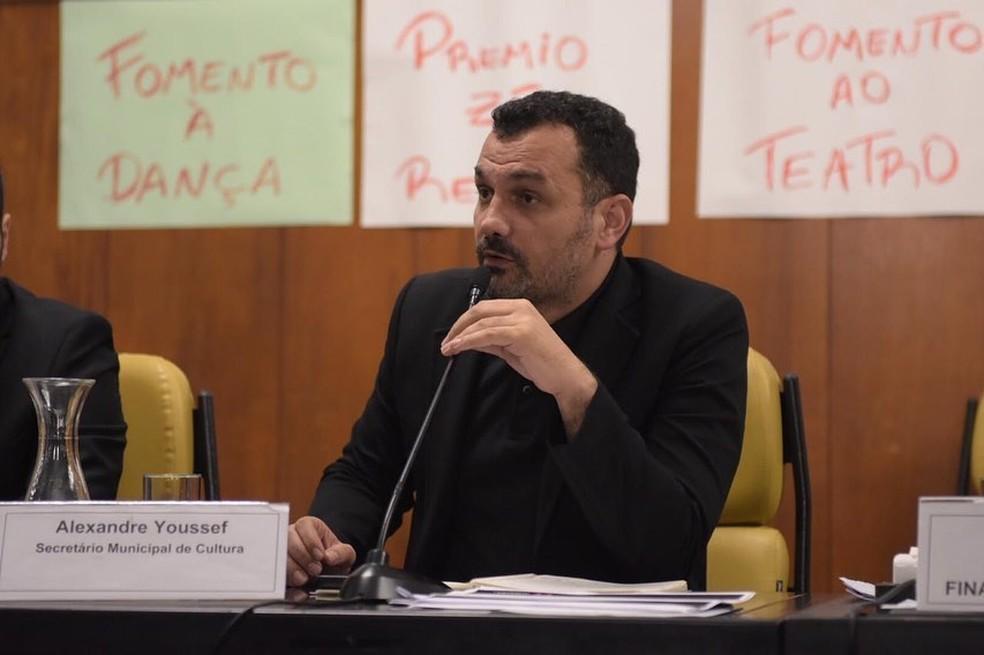 O secretário de Cultura de SP, Alê Youssef, alvo de crítica dos organizadores de blocos de SP.  — Foto: Reprodução/Acervo Pessoal
