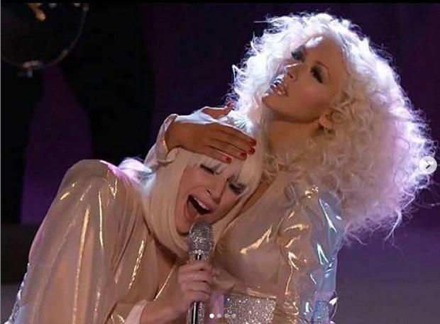 Lady Gaga e Christina Aguilera (Foto: Reprodução/Instagram)