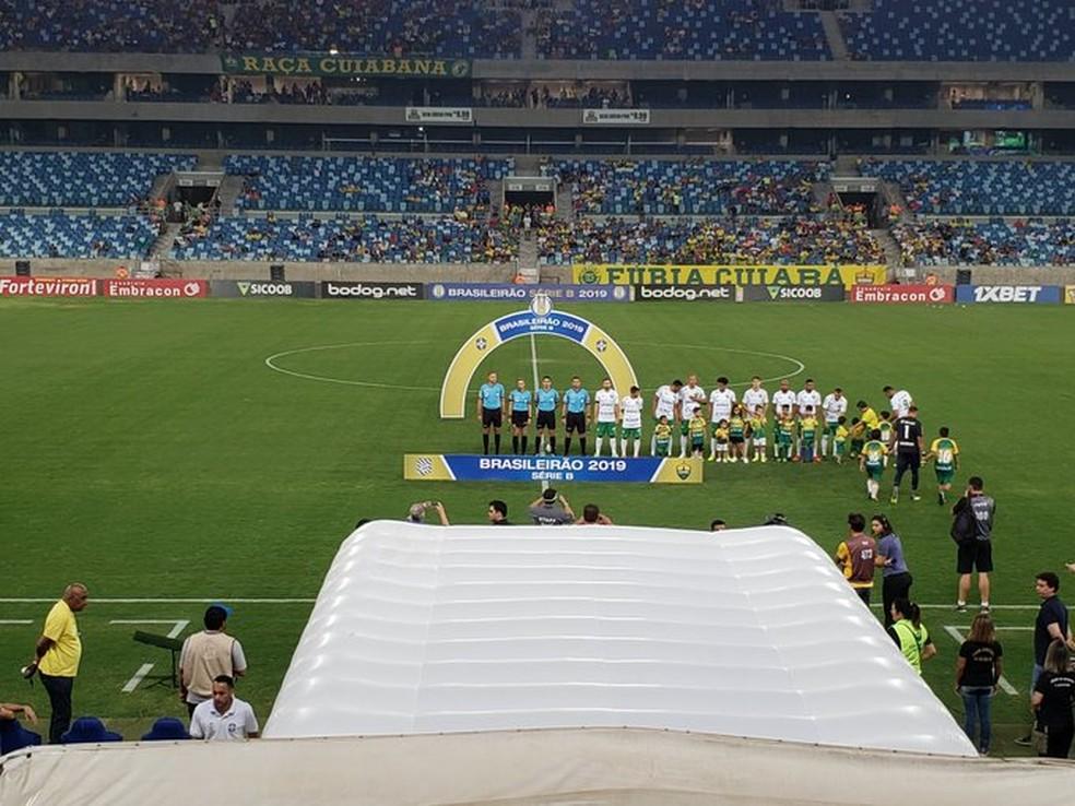 Cuiabá x Figueirense não aconteceu na Arena Pantanal — Foto: Olímpio Vasconcelos