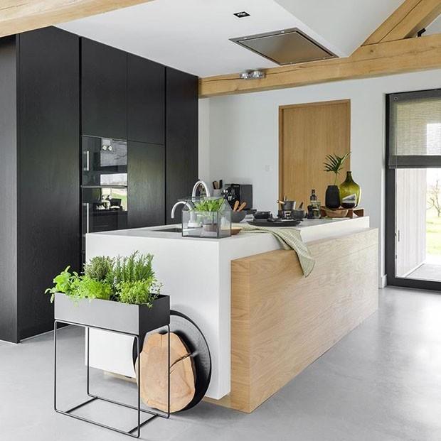Top 10 cozinhas decoradas com plantas (Foto: divulgaçao )