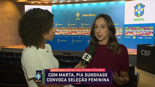 Com Marta, Pia Sundhage convoca seleção feminina para amistosos contra Inglaterra e Polônia