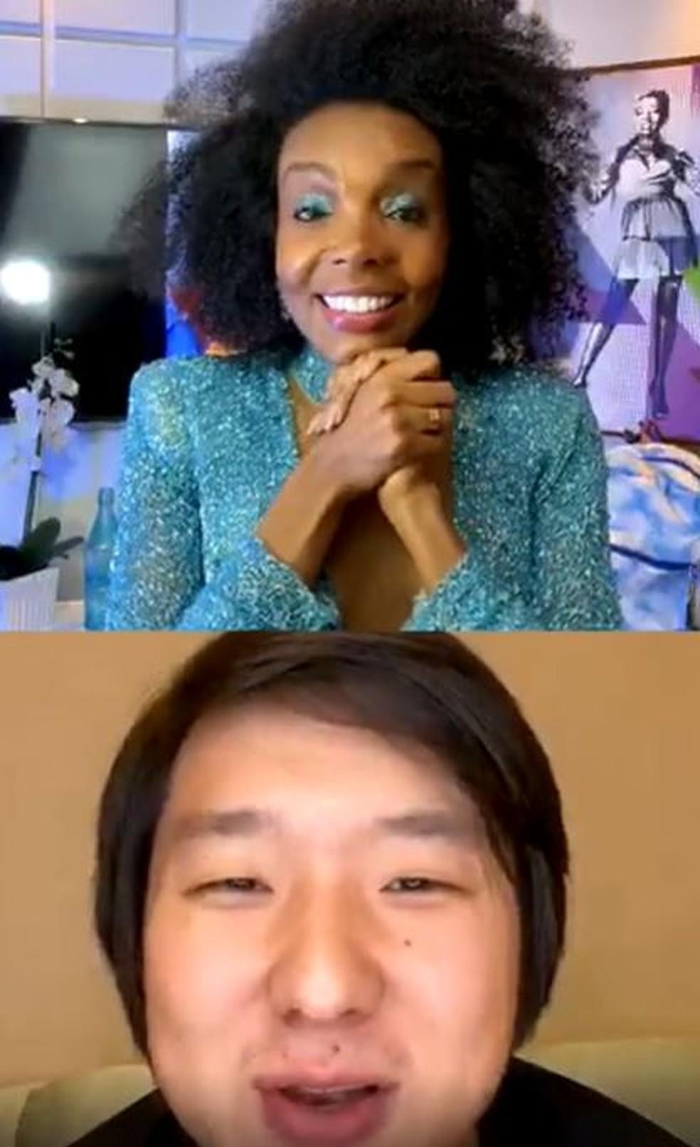 Thelminha e Pyong Lee — Foto: Reprodução/Instagram