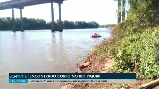 Corpo de rapaz desaparecido há cinco dias é encontrado no Rio Piquiri