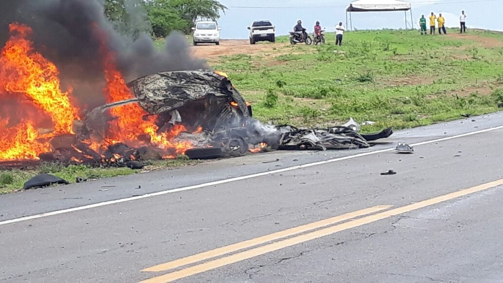 Acidente aconteceu na BR-226, no município de Santa Cruz (Foto: Higo Rodrigues)