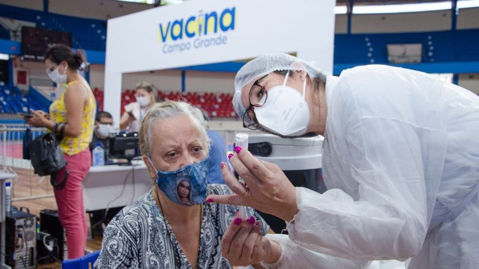 Vacinação contra a Covid-19 em Campo Grande (MS) — Foto: Prefeitura de Campo Grande