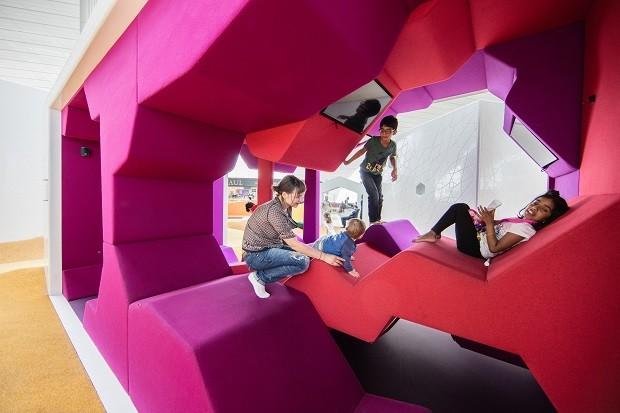 Espaço para crianças no aeroporto de Dubai (Foto: Divulgação)