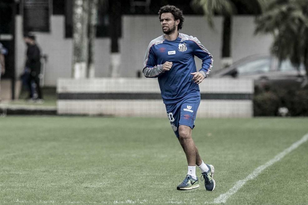 Victor Ferraz pertence ao Santos — Foto: Ivan Storti/Santos FC
