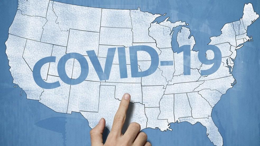 Estados Unidos, atualmente, são o epicentro da pandemia do novo coronavírus — Foto: Getty Images/BBC