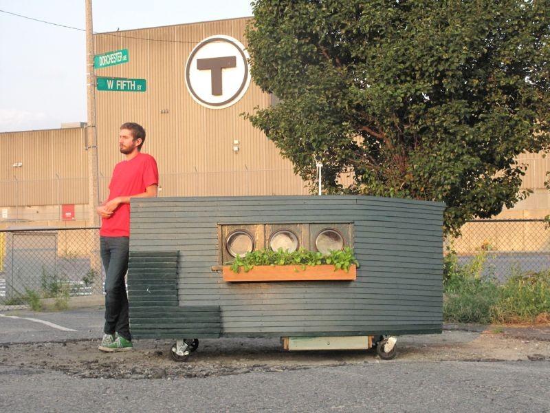 Jeff Smith e a menor casa do mundo  (Foto: reprodução)