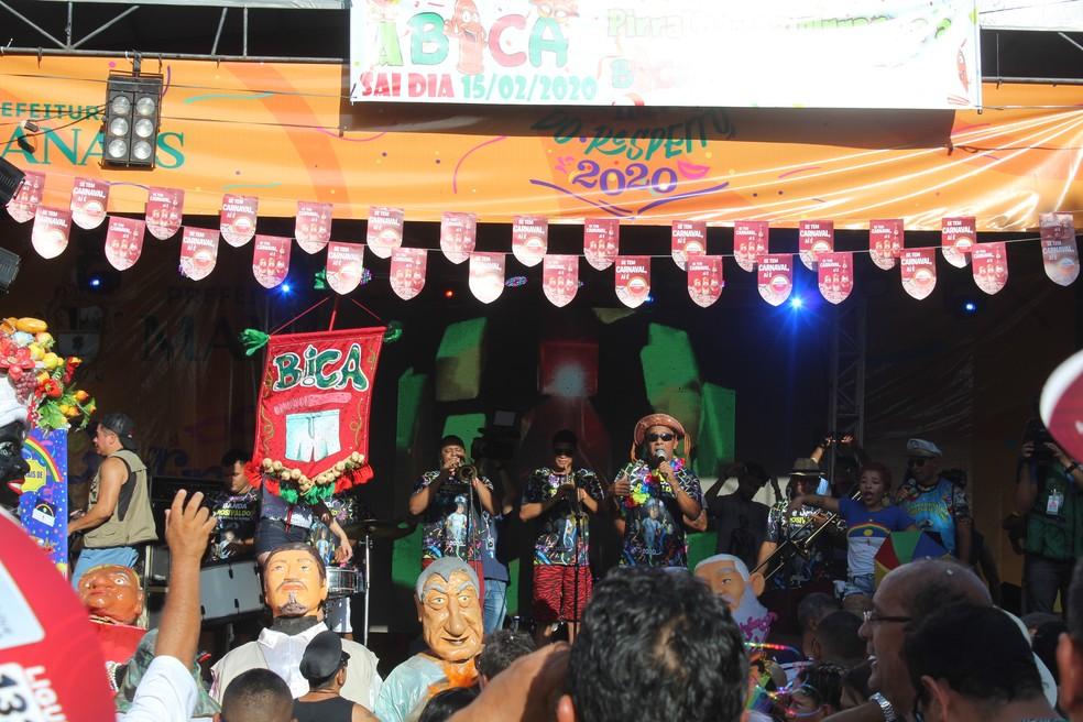 Palco da Banda da Bica, em Manaus  — Foto: Matheus Monteiro/Rede Amazônica