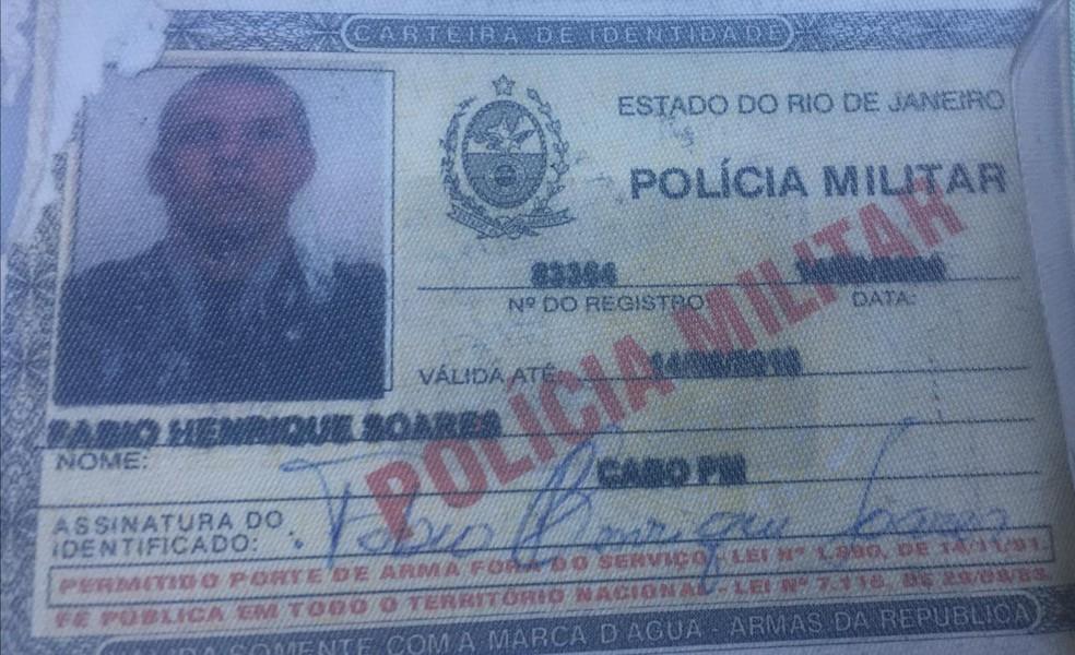Sargento Fábio Henrique Soares foi preso por policiais civis na tarde desta segunda (1º) em um shopping na Barra da Tijuca — Foto: Divulgação
