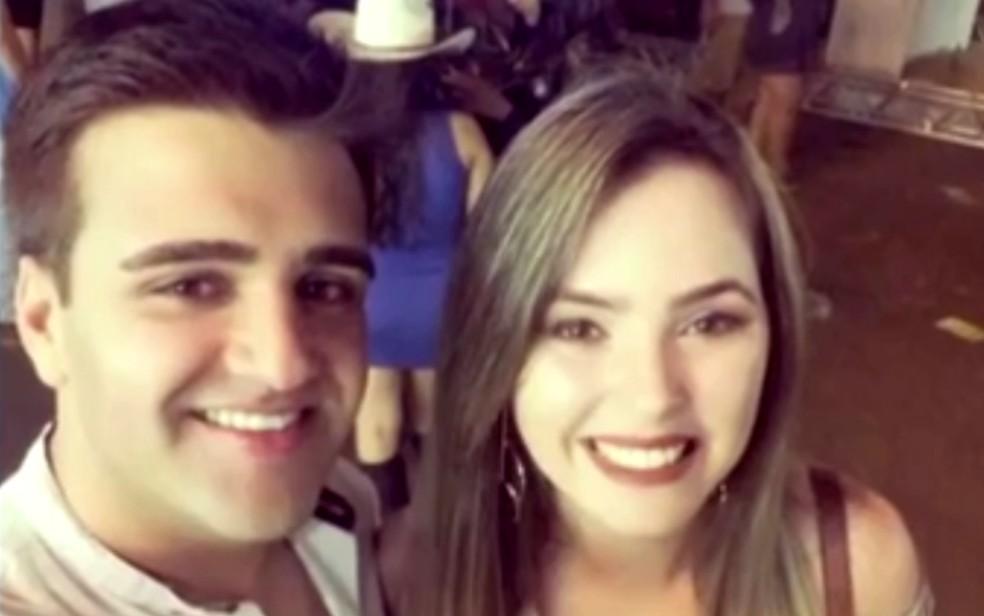 Camila Edna Silveira de Oliveira e Mário Silva de Moura foram mortos a tiros (Foto: Reprodução/ TV Anhanguera)