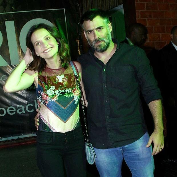 Fernanda Rodrigues e o marido, o diretor Raoni Carneiro (Foto: Marcos Ferreira/Brazil News)