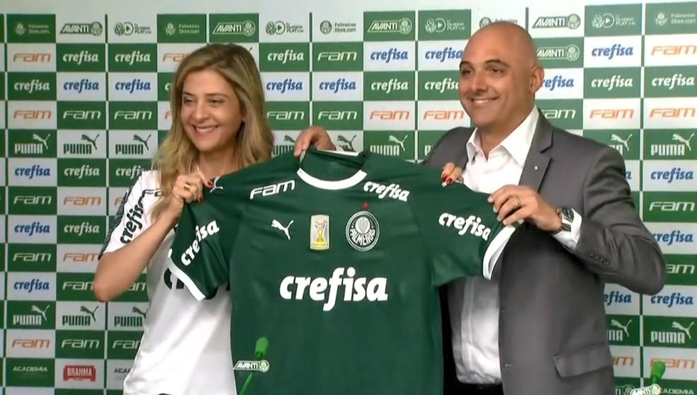 Crefisa participou ativamente do investimento que trouxe Bruno Henrique para o Palmeiras em 2017 — Foto: reprodução