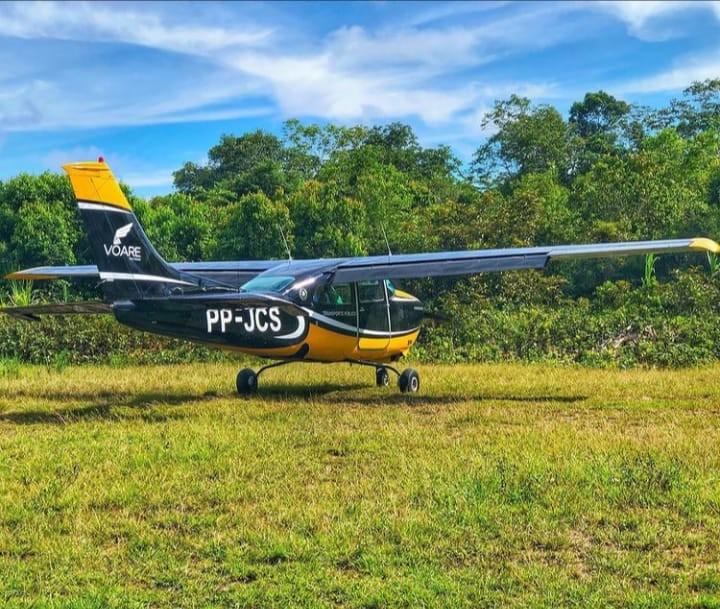Avião que atende DSEI Yanomami afunda em rio no Amazonas após pouso de emergência