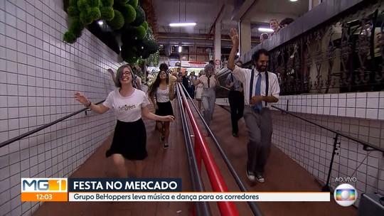 Grupo de dança BeHoppers comemora no Mercado Central