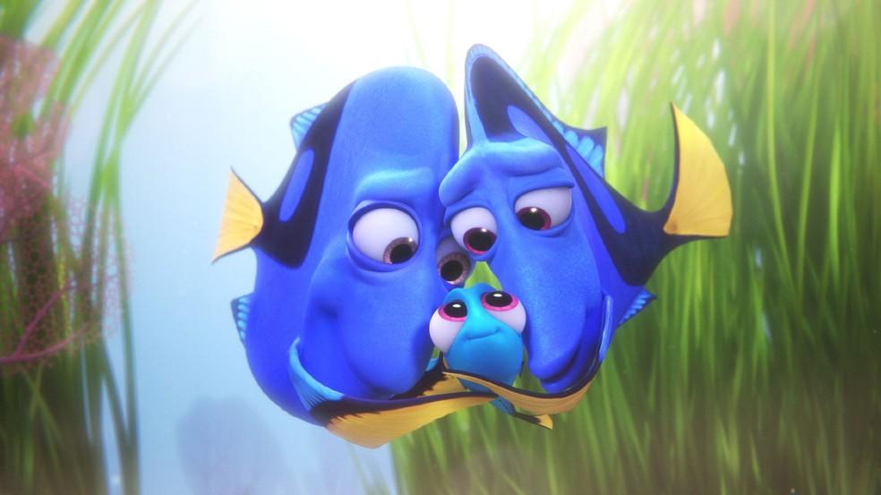 Cena de 'Procurando Dory', que mostra a infância da personagem de 'Procurando Nemo' (Foto: Divulgação)