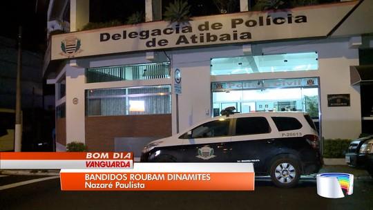 Criminosos roubam carga de 260 quilos de dinamite em Nazaré Paulista, SP