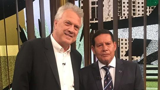 Em entrevista a Pedro Bial, Mourão diz que volta ao vôlei de praia se for descartado por Bolsonaro em 2022