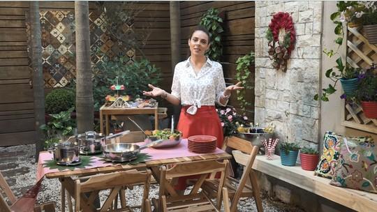 Que tal fazer o almoço de Natal na área externa? Vem aprender com o É de Casa!