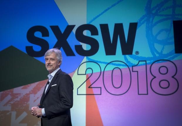 John Krafcik, CEO da Waymo, uma das empresas da Alphabet, no SXSW 2018 (Foto: David Paul Morris/Bloomberg via Getty Images)