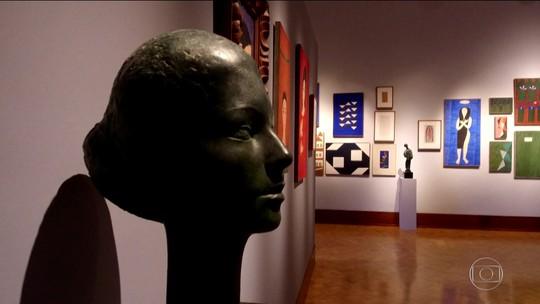 Exposição com obras de Alfredo Volpi e Bruno Giorgi estreia na Pinakotheke, em São Paulo