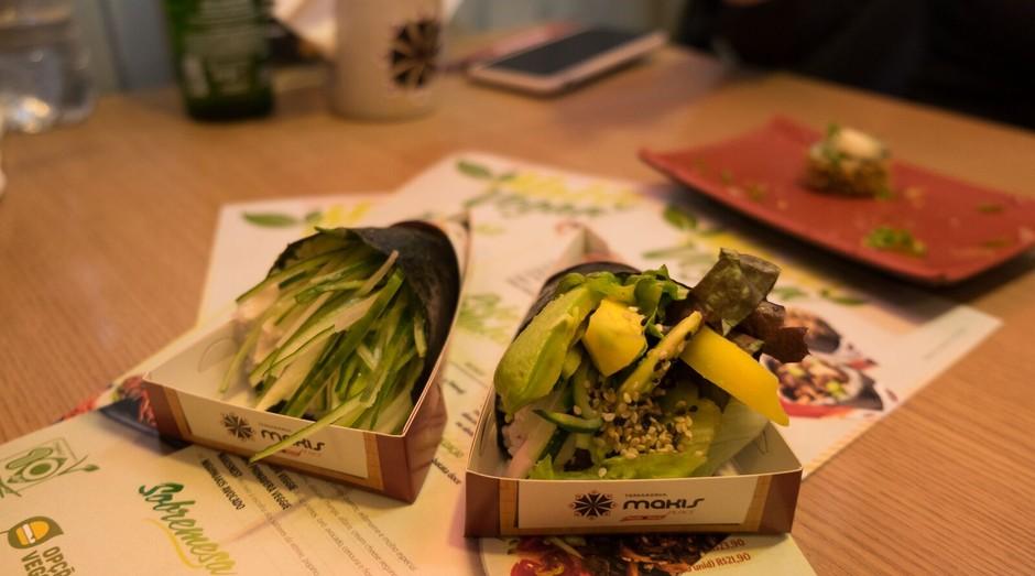 Temaki vegano faz parte do novo cardápio da rede Makis (Foto: Divulgação)
