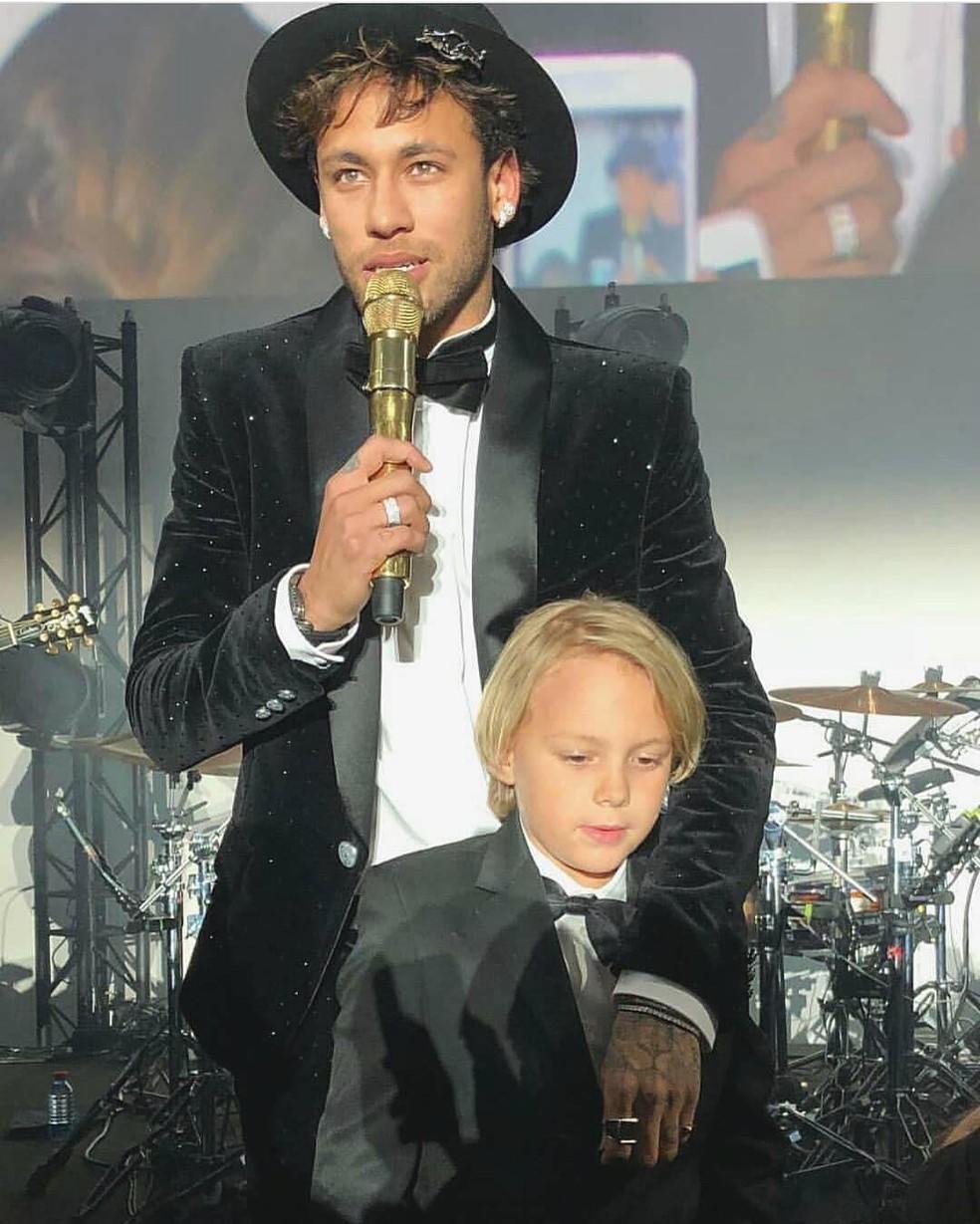Neymar, com o filho Davi Lucca  (Foto: Reprodução/Instagram)