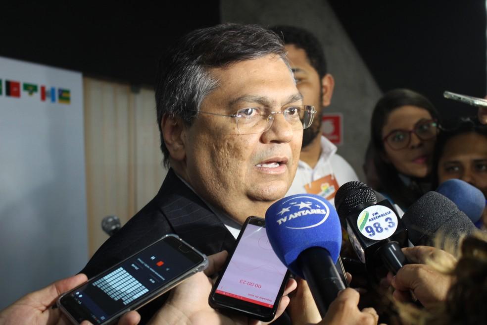 Flávio Dino (PCdoB), governador do Maranhão, no encontro dos governadores do Nordeste em Teresina — Foto: Lucas Marreiros/G1